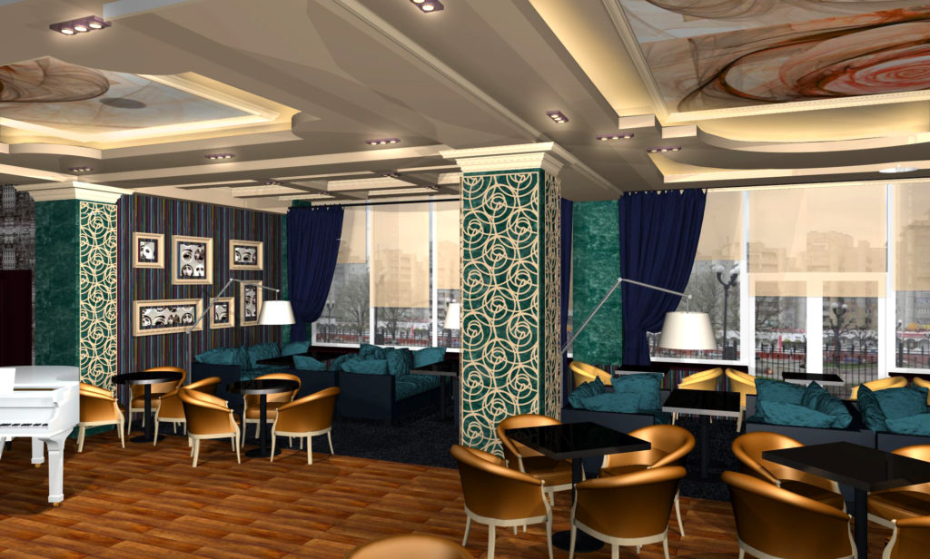 В ходе реконструкции можно полностью переделать внутреннюю компоновку ресторана, сделать пристройку и расширить площадь