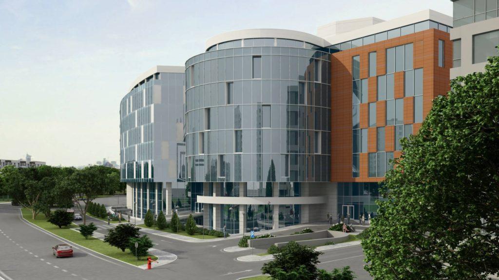 При реконструкции бизнес-центра могут проводиться фасадные работы