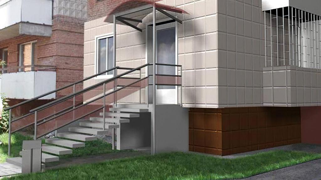 Так как из жилых помещений обычно делают выходы на общие лестницы МКД, вход с улицы придется заделывать