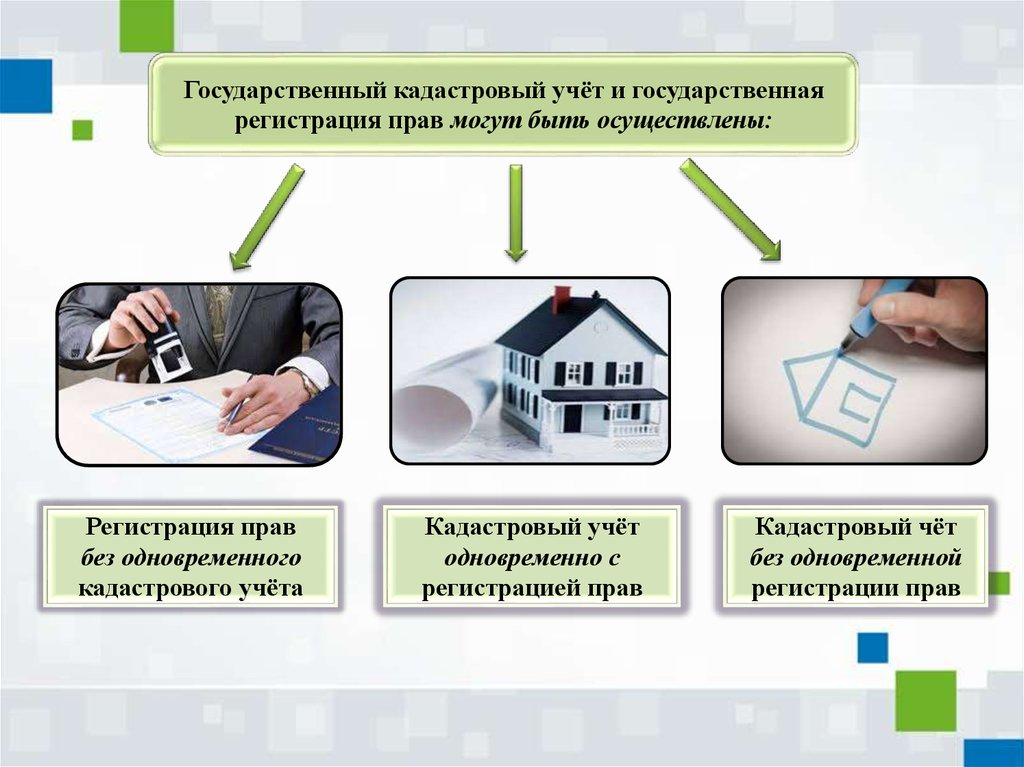 Есть три основных варианта прохождения кадастрового учета на недвижимость.
