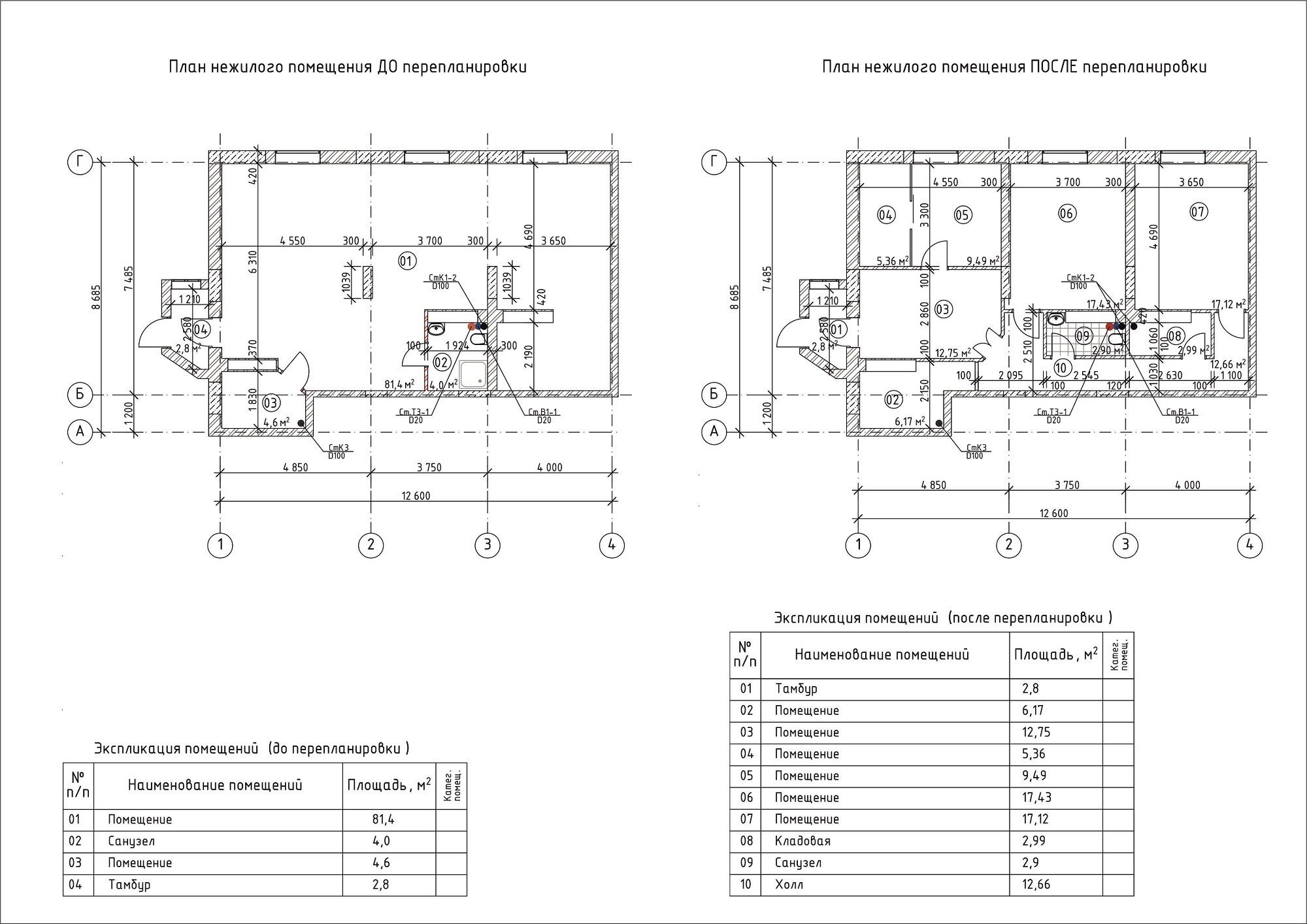 Для согласования перепланировки заказывается проект, техническое заключение о состоянии несущих конструкций.