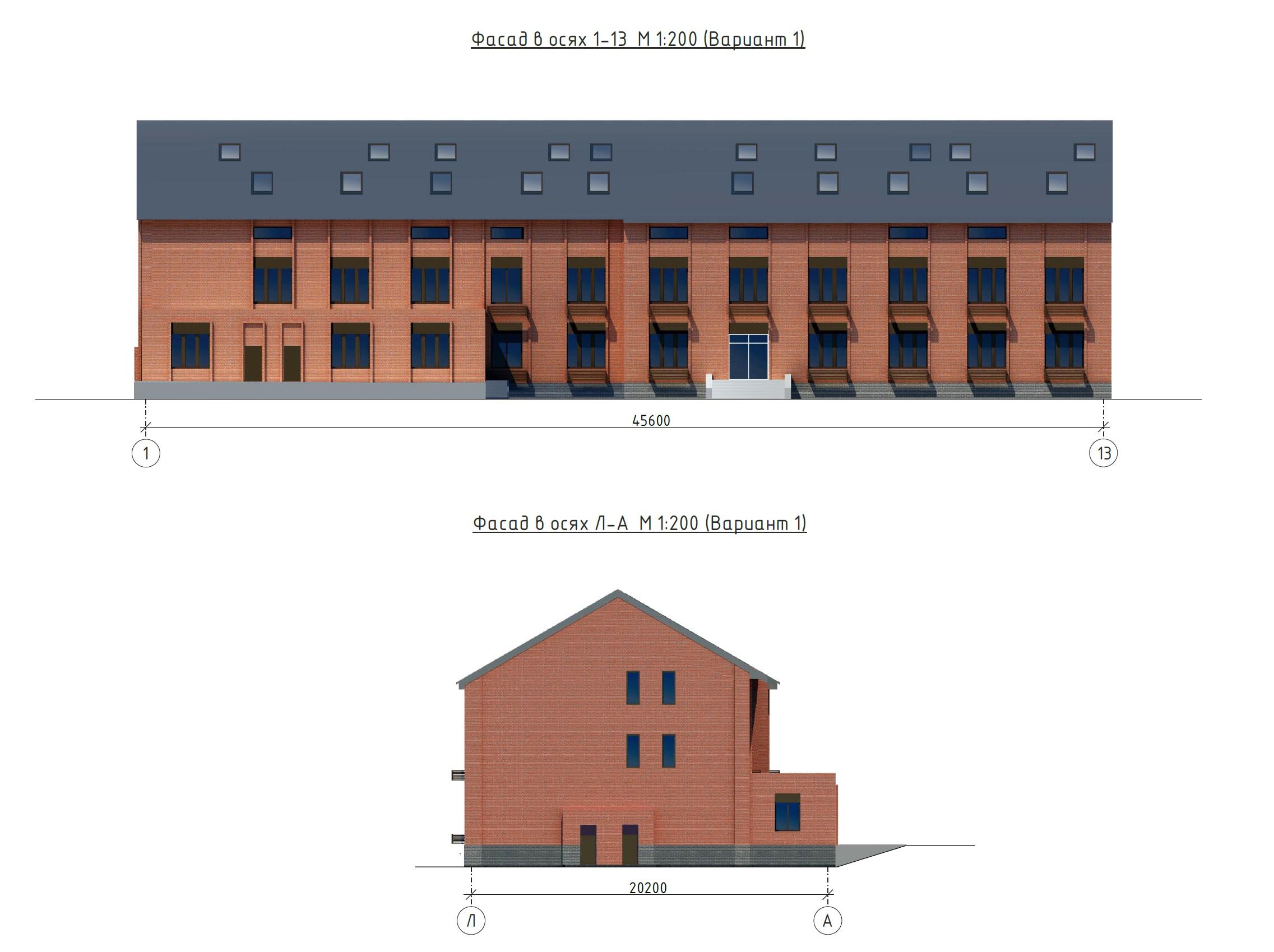 Фасады здания описываются в проекте и паспорте со всех прилегающих улиц.
