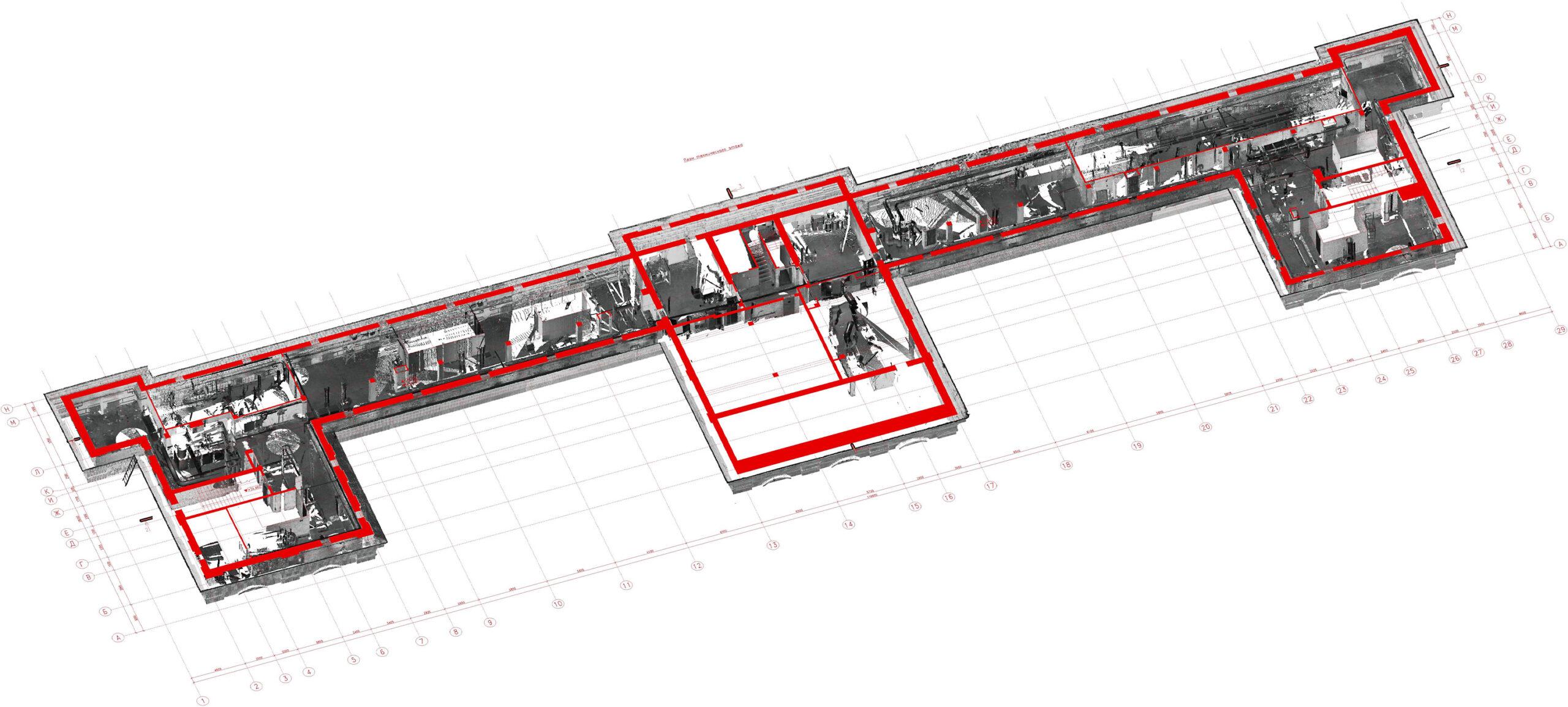 Сейчас распространен вариант с лазерным сканированием объектов. Это дает максимально точные результаты обмеров.