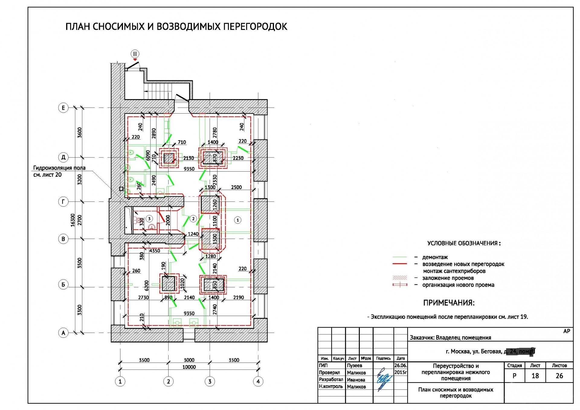 Проект перепланировки можно заказать в организации, состоящей в СРО. Типовые проекты можно получить в МЖИ.